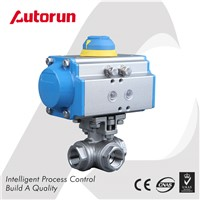 Wenzhou Supplier 3-Way Pneumatic Ball Valve