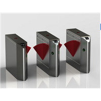 Automatic Crowd Security Access Control FlapTurnstile with ID Card Reader & Face Recognition