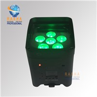 Core Smart Infrared Remote Control 6IN1 RGBAW UV Battery Powered Wireless LED Uplight LED Par Light