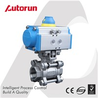 Wenzhou Supplier 3-Piece Threaded Pneumatic Ball Valve
