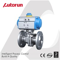 Wenzhou Supplier Flanged Pneumatic Ball Valve