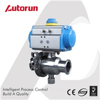 Wenzhou Supplier Sanitary Tri-Clamp Pneumatic Ball Valve