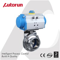 Wenzhou Supplier Sanitary Pneumatic Butterfly Valve