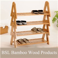 Bamboo Wooden Stackable Shoe Rack
