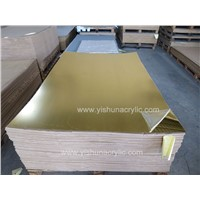 High Quality 4ftx6ft Light Golden Mirror Acrylic Sheets Pmma Mirror Sheets