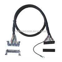 OEM LVDS Cable Assemble with Dupont 2.0 Connector & China Brand FI-RE51HL To Monitor