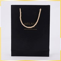 Promotional Elegant Apperance Sole Printing Three Stranded Rope Fancy Paper Gift Bag for Wholesale