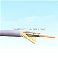 Fiber Optic Armored Cable Duplex 2-in-1 Round Multimode Om1 Om2 Om3 3mm