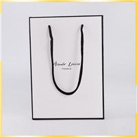 High-End Printing Custom Logo Exquisite & Small White Paper Bag by Factory
