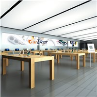 High End Working Drawing Plan Mobile Phone Storefront Design for Apple Huawei Store Smart Life Pavilion Experience