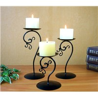 Set of Three Table Decoration Metal Candle Holders