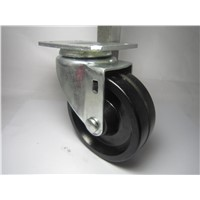 4 Inch Black Plate Swivel Heat Resistant Caster Load 120kg of 150 Degrees C Series