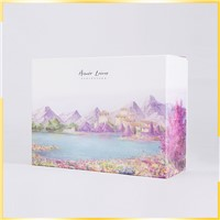 Fast Delivery Enviornmental Hard Paper Embossed Clothing Gift Box White