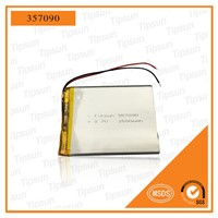 Customized Battery 3.7V 357090 2500mAh Polymer Lithium Battery Pack