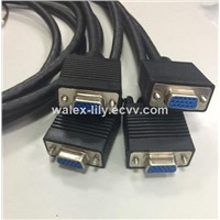 Customized VGA-Cable Cable Assembly FEMAIL 9PIN 15-Pin Plug Manufactory DB9PIN