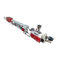 PVC Two Pipe Outlets Extrusion Line