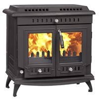 Double Door Wood Burning Free Standing Cast Iron Stove Fireplace for Sale WM703A
