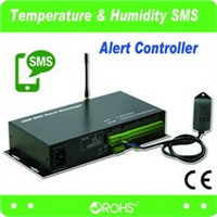 Wireless Smoke Alarm, Temperature & Humidity SMS Alert Controller(GSMS-THR-SX)