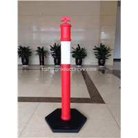 "CE 48"" Bollard 1.2M PE Bollard +Rubber Base Flexible Delineator Post Traffic Bollard"