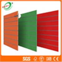 4'*8' Solid Color Slatwall Board with Customized Slots