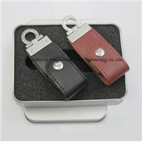 Hot Sale New Pen Drive Leather/Keychins Model USB 2.0 Memory Flash Stick Drive