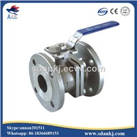 2 Pcs Flange Connection Type Stainless Steel Ball Valve for Hot Water WCB DN50 PN16 ANSI DIN JIS