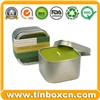 Square Candle Tin Box with Transparent PVC Window Lid, Metal Travel Tin Can (BR1304)