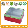Square PVC Window Tin Box, Food Tin Can Packaging (BR326)