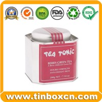 Tea Tin Box with Airtight Lid, Metal Tin Tea Caddy (BR1202)