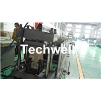 GI. Carbon Steel Top Hat Channel Roll Forming Machine with 1.5 Inch Chain of Transmission