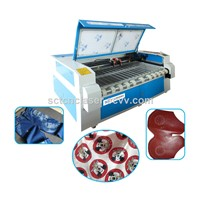 SCT-F1810 Auto-Feeding Double Heads 100w Textile Fabric Clothes Laser Cutting Machines