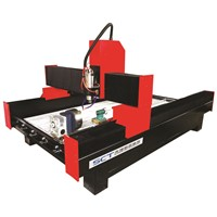 SCT-S1325 Glass & Ceramic Tile Carving Stone CNC Router with Rotary System