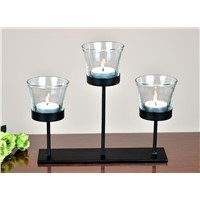 Table Tea Light Holder with Glass Cup without Tea Light for Home Decoration