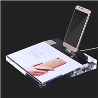 Shenzhen Factory Good Quality Dedicated Luxury Acrylic Display Stand for Android Phone Alarm with Charging Exhibition