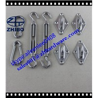 Sun Shade Sail Hardware Turnbuckle Snap Hook Paid Eye 8mm