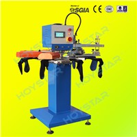 1 Color 8 Station Rapid Rotary Non Slip Socks Screen Printing Machine
