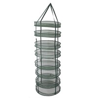 2 Feet Diameter Collapsible Mesh Hydroponic Drying Rack Net w/ Clips&Storage Carrying Bag