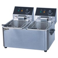 Counter Top Electric Deep Fryer 2 Tank 2 Basket All S/S Body Electric Fryer FMX-WE263C