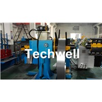 Manual / Passive Type Uncoiler Machine with Rotary Double Head Mandrel for Supporting the Coil Strip