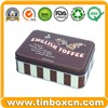 Rectangular Chocolate Tin Box, Metal Food Tin Container (BR512)