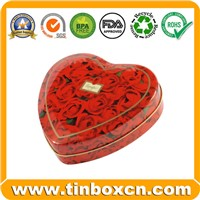 Heart-Shaped Candy Box, Candy Tin, Candy Tin Box, Candy Can, Tin Box for Candy Packaging, Food Tin Box (BR1615)