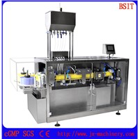 Pesticide Plastic PET/PE Bottle Forming & Filling & Sealing Machine For Agricultural/Chemical Industry