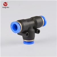 Pneumatic One Touch Tube Connector Fittings; Plastic Tee Connector; Truck Accssory, Auto Parts