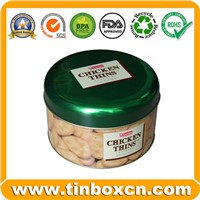 Round Tin Box, Food Tin Box, Tin Can (BR005)