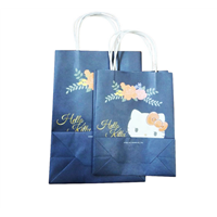 Medium Size Custom Printing Kraft Paper Shopping Bag