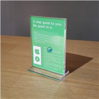 Manufacturer Wholesale A5 Acrylic Paper Holder Sign Holder Brochure Holder for Mobile Phone Store