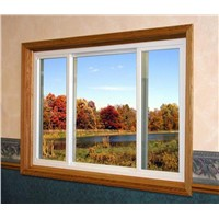 with Mosquito Net or Blinds Double Glazed Glass Aluminum 3 Tracks Sliding Windows
