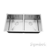 Double Bowl Square Undermount Kitchen Sink