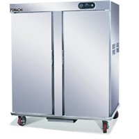 Electric Food Warmer Cart Double Door All S/S Food Warmer Dining Cart FMX-K222A