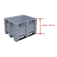 Heavy Duty Solid Plastic Pallet Box/Bin Factory Direct Sale